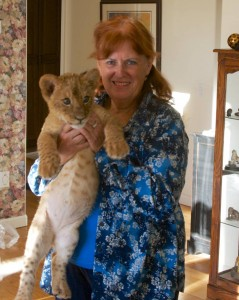 Sharron Hope and Baby Lion